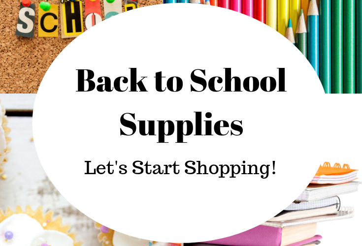 SCHOOL SUPPLIES-LET'S START SHOPPING